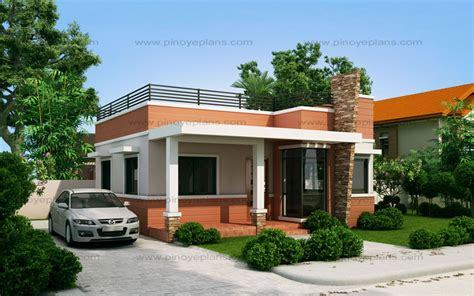 Floor Plans For A Small House rommell one storey modern with roof deck pinoy eplans