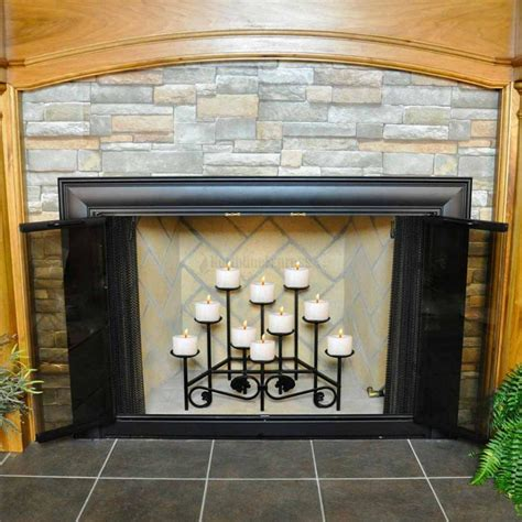 fireplace candles fireplace screen with candles home design