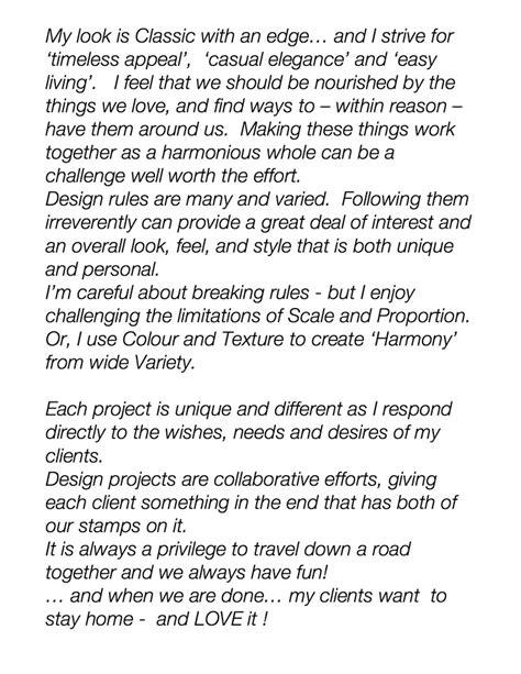 interior design personal statement coledesign studio top residential designer