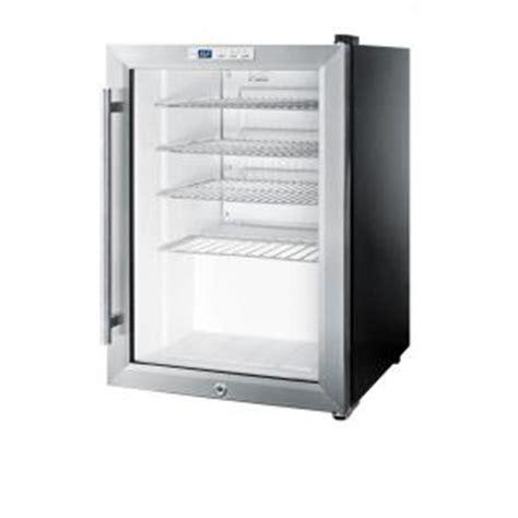 refrigerator with glass door for homes summit appliance 2 5 cu ft glass door mini refrigerator