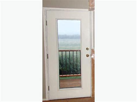 hung exterior doors pre hung white metal exterior door w glass duncan