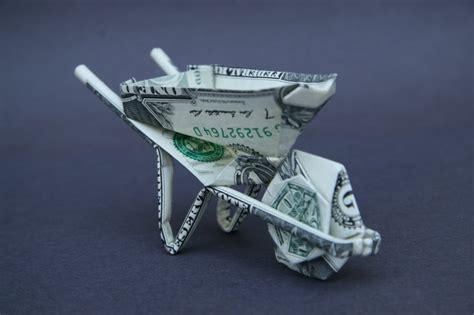 bill origami wheelbarrow dollar bill origami taro s origami studio
