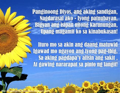 tagalog opening prayer for tagalog prayers and christian quotes october 2012
