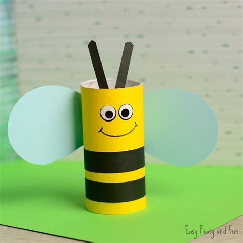 toilet paper craft toilet paper roll bee craft for easy peasy and