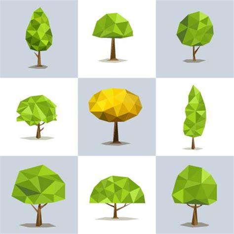 tree shapes geometric shapes tree vector illustration 03 vector