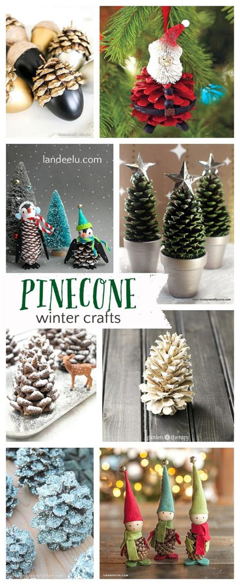 pinecone crafts for pretty winter crafts using pinecones landeelu