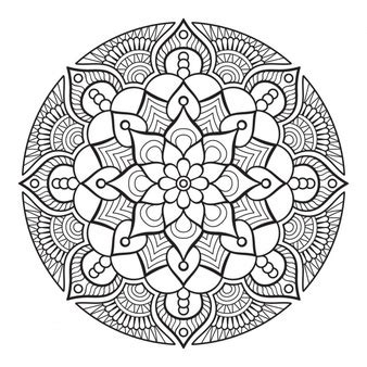 design a ornament flower outline vectors photos and psd files free