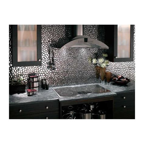 mosaique inox 1 plaque carrelage faience credence galet