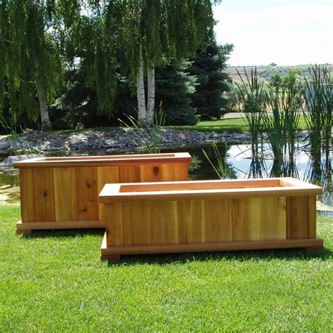 backyard planter ideas simple diy wood raised bed garden planter box for backyard