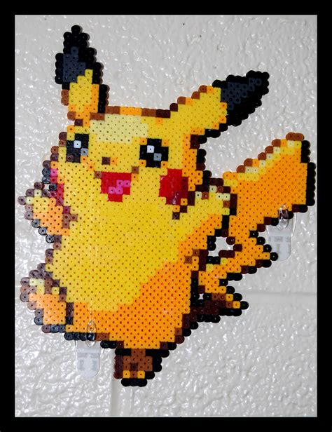 pikachu perler pin perler pikachu on