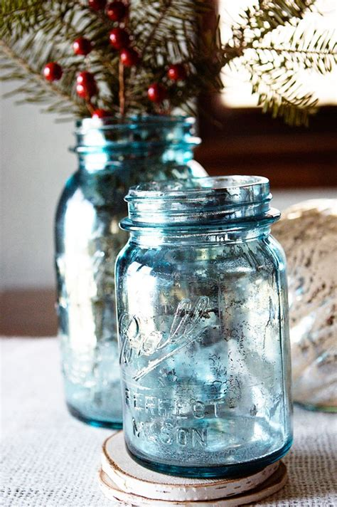 spray painting glass jars looking glass spray paint by krylon and blue jars