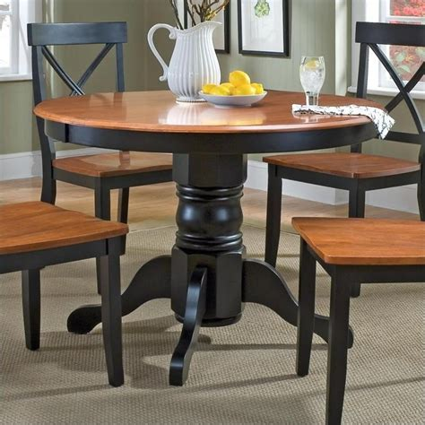 home styles dining table home styles pedestal casual black cottage oak