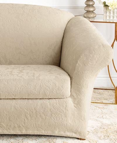 sofa chair slipcovers sure fit stretch sofa jacquard damask 2 sofa