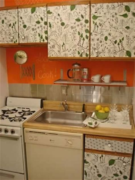 decoupage kitchen cabinets
