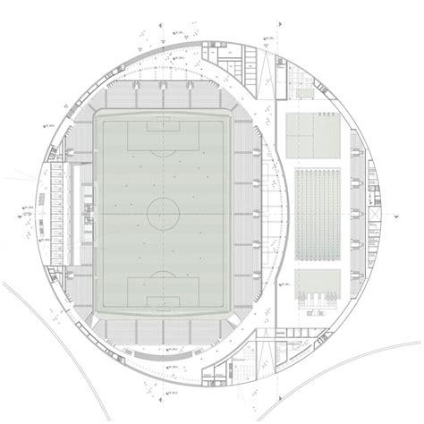 football stadium floor plan sports complex and re design gmp architekten