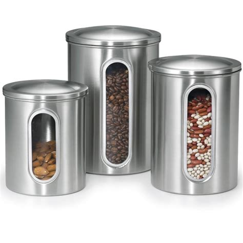 stainless steel canister sets kitchen 5 best stainless steel kitchen canister set convenient