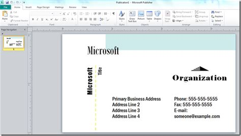 how to make sided business cards in publisher how to make a business card with microsoft publisher