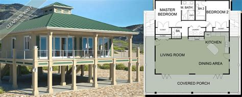 raised beach house plans beach house plans on pilings