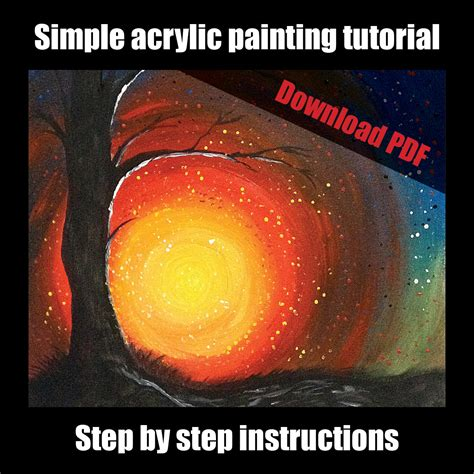acrylic painting tutorial for beginners step by step simple acrylic painting tutorial for beginners step by