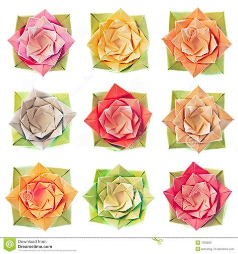 origami flower pattern origami flower pattern stock photos image 7903953
