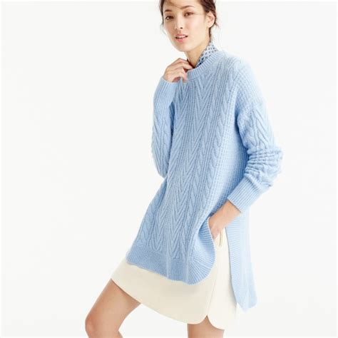 Tunic Cable Knit Sweater S Sweaters J Crew