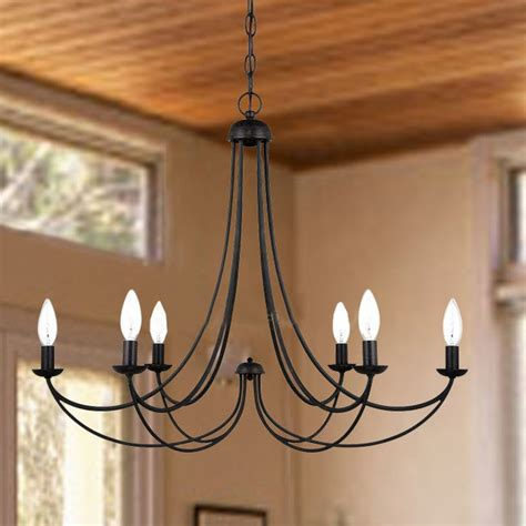 farmhouse chandelier lighting country 6 candles iron chandelier farmhouse