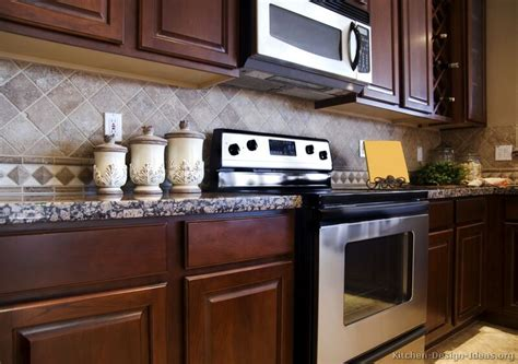 kitchen cabinets backsplash ideas tile backsplash ideas for cherry wood cabinets best home