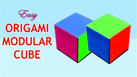 3d cube origami how to make an origami cube origami modular cube make