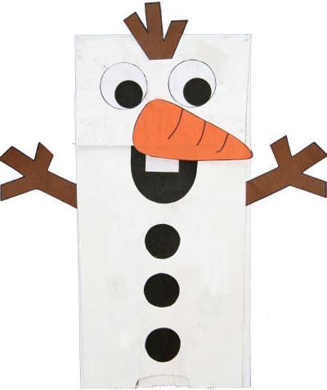 paper bag snowman craft paper bag snowman puppet