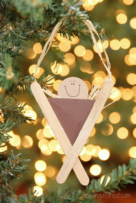 manger craft for popsicle stick manger craft housing a forest