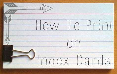 how to make study cards use your printer to print on index cards great for