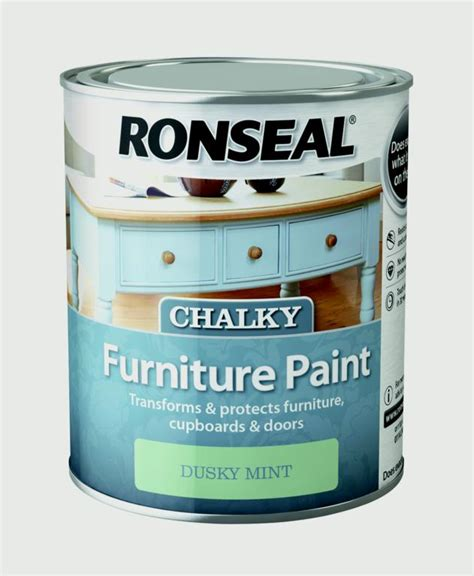 chalk paint varnish ronseal chalky furniture paint 750ml for cupboards doors