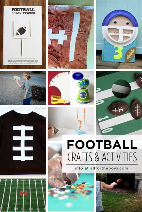 football crafts for football crafts activities for all for the boys