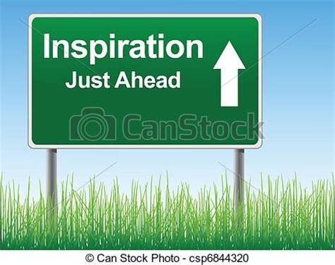 Vector Clipart of Inspiration road sign.   Inspiration