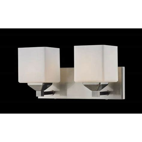 two light bathroom fixture z lite quube two light bathroom fixture on sale
