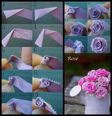 craft paper flowers roses origami flowers diy paper crafting