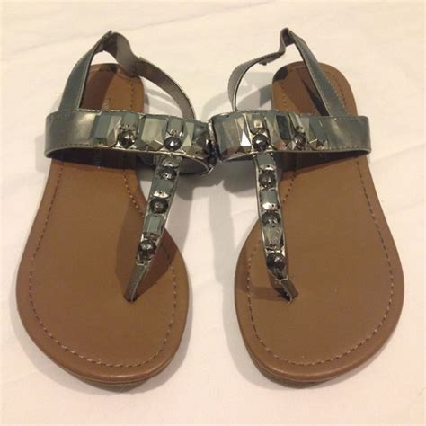 silver beaded sandals montego bay club silver beaded sandals from kathryn s