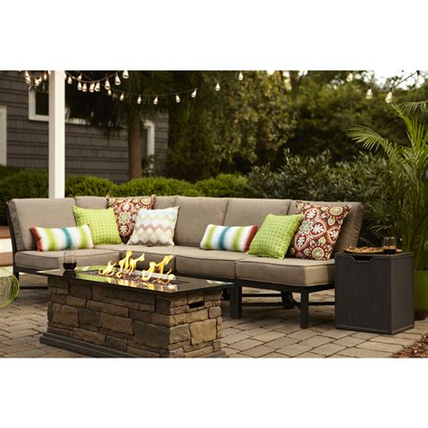 patio furniture 3 set shop garden treasures palm city 5 black steel patio