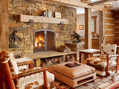 rustic living room get cozy a rustic lodge style living room makeover