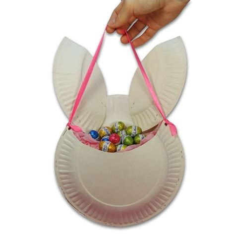 easter crafts with paper plates easter bunny basket made of paper plates easter craft