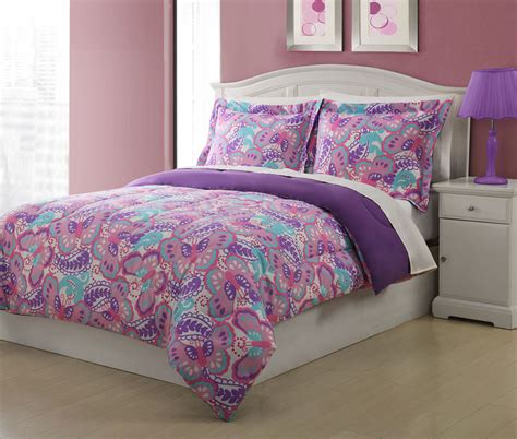 purple butterfly bedding microfiber paisley butterfly bedding comforter