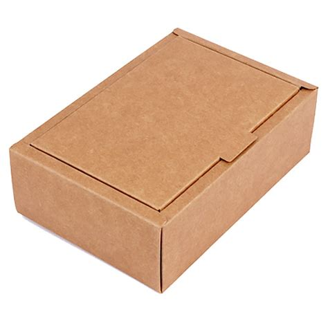 craft paper box brown kraft paper folding flap covered gift box esgreen
