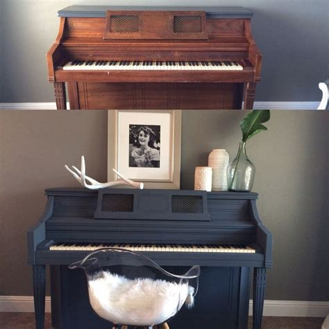 chalk paint no sanding diy painted piano used valspar chalk paint in opera gown