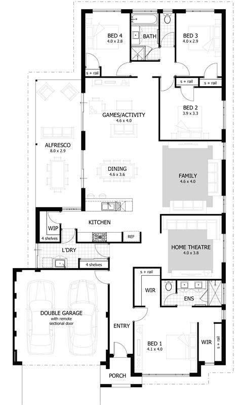 home planes 4 bedroom house plans home designs celebration homes