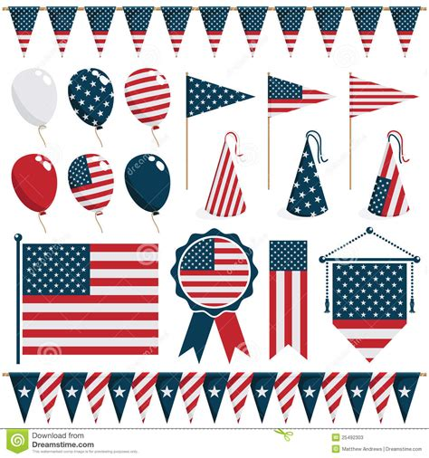 usa decorations usa decorations stock vector image of stripes