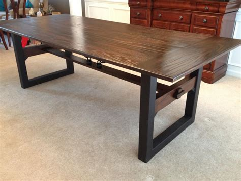 chic dining tables industrial chic dining table richmond industrial chic