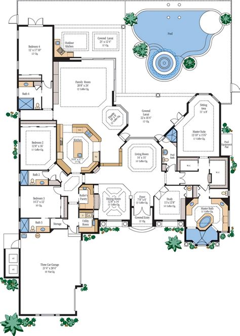 small luxury floor plans luxury home floor plans house plans designs