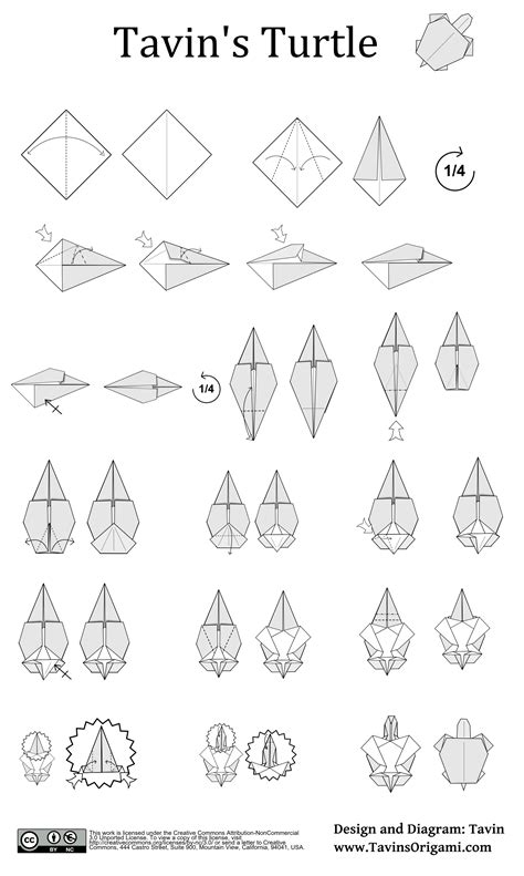 how to make an origami turtle step by step model archives tavin s origami