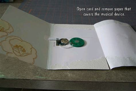 musical cards make your own repurposed musical card favecrafts