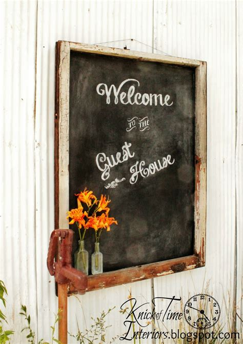diy chalkboard lettering diy chalkboard lettering guest house sign knick of time